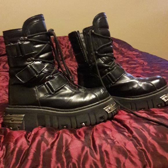 c2e7b0ee9056 anarchist Shoes - Anarchy goth punk platform combat boots!